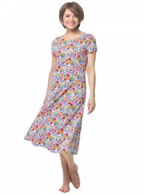 Платье из кулирки с кор. рукавом (40-62 р)