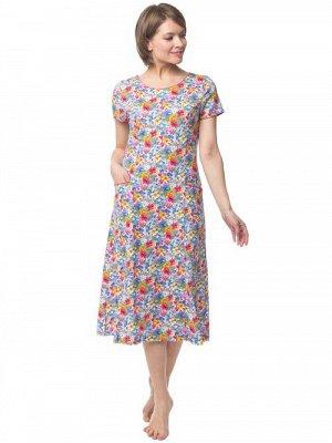 N054-2 Платье из кулирки с кор. рукавом (42-62 р) (40) 4680408062006   40