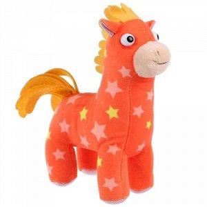 """Мягкая игрушка """"Мульти-пульти"""" Деревяшки.Лошадка Иго-го , 20 см. озвуч. , пак."""