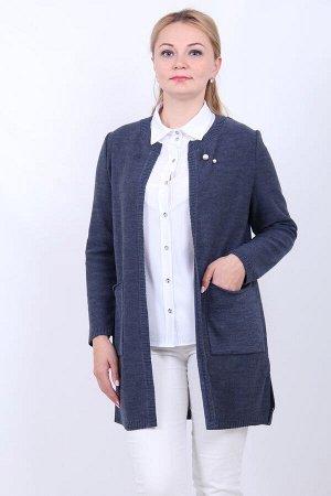 682 кардиган женский, 111 (Меланжированный джинс)