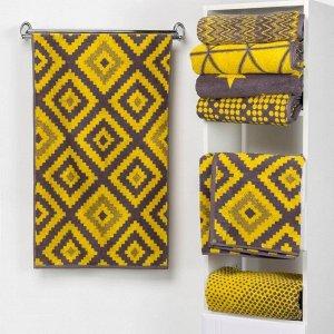 Полотенце махровое Этель «Пэчворк» цвет жёлтый, 70х130 см
