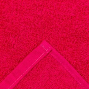 Полотенце махровое жаккард Plait, размер 70х130 см, цвет красный