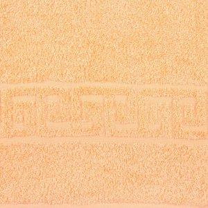 Полотенце махровое однотонное Антей цв персиковый 70*140см 100% хлопок 430 гр/м2