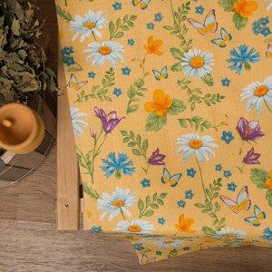 """Простыня для бани """"Русское поле"""" 145х 180 см,  хлопок вафельное полотно"""