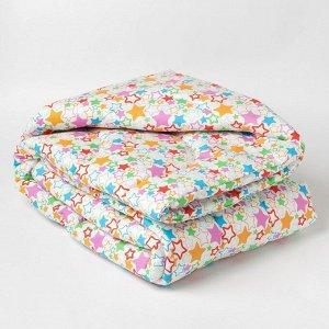 Одеяло стеганое «детское+» 110х140, синтепон, цвет МИКС