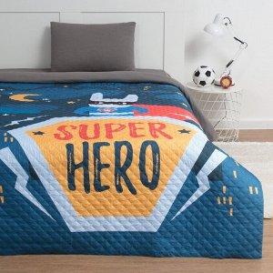 """Покрывало """"Этель"""" 1,5 сп Super hero, 145*210 см, микрофибра"""