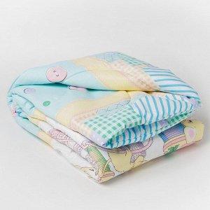 Одеяло стеганое «детское+» 110х140, цвет МИКС