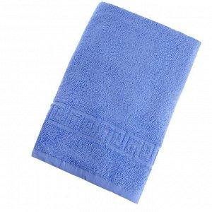 Полотенце махровое однотонное Антей цв голубое 70*140см 100% хлопок 430 гр/м2