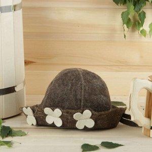 Банная шапка детская, коричневая, войлок 2593185