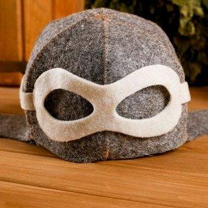 """Колпак для бани  шапка """"Шлем пилота"""", войлок, коричневая"""