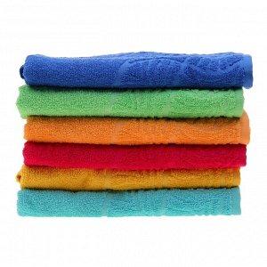 "Полотенце махровое банное ""Волна"", размер 70х130 см, 300 г/м2, цвет синий"