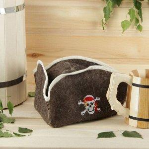 """Шапка для бани и сауны """"Пират"""" с вышивкой 2593193"""