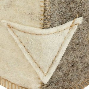 """Колпак для бани  шапка """"Шлем викинга"""", войлок, комбинированная"""