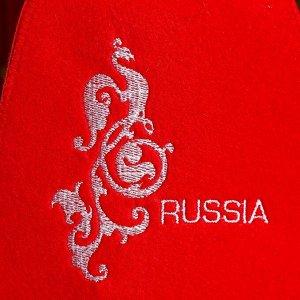 "Колпак для бани  шапка ""Russia"" красная"