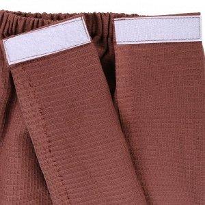 Килт для сауны муж (65х150), цв.шоколадный, ваф.полотно 160г/м, хл100%