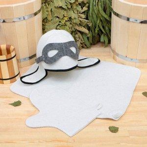 "Набор для бани ""Летчик"" шапка, коврик, рукавица"