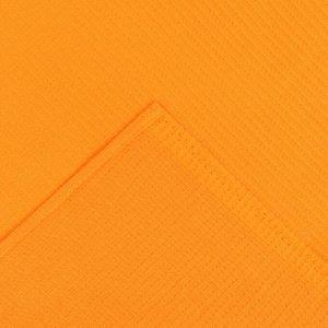 Накидка для сауны жен (75х150), цв.апельсин, ваф.полотно 160г/м, хл100%