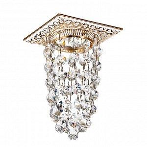 369994 SPOT NT15 132 белый/золото/хрусталь Встраиваемый светильник IP20 GX5.3 50W 12V GRAPE