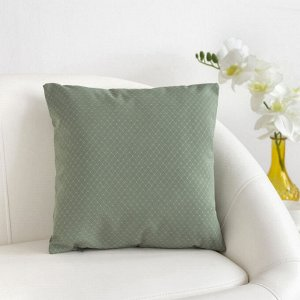 """Декоративная подушка """"Этель"""" 40х40 см, Английский стиль, цвет светло-зелёный,100% п/э"""