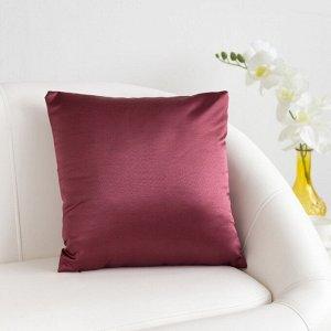 Декоративная подушка «Этель» 40?40 см Дамаск CRABAPPLE SOLID, 100% п/э