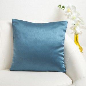 Декоративная подушка «Этель» 40?40 см, Дамаск TEAL SOLID