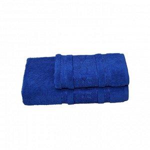 Полотенце махровое Бодринг 70х140 +/- 2 см, синий, хлопок 100%, 430 г/м2