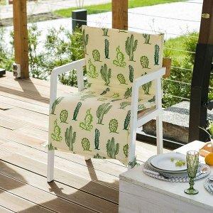 Подушка на уличное кресло «Этель» Кактусы, 50?100+2 см, репс с пропиткой ВМГО, 100% хлопок