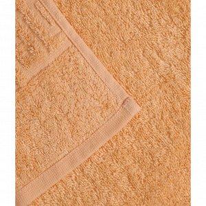 Полотенце махровое, 70х140 см, цвет персик