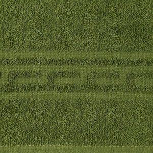 Полотенце Ocean 70х130 см, темно-зеленый, хлопок 100%, 360 г/м2