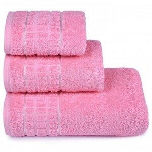 Полотенце махровое «Megapolis» 70х130 см, цвет розовый, 390 гр/м2