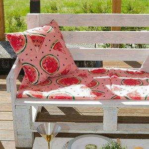 Декоративная подушка уличная «Этель» Арбузы, 45?45 см, репс с пропиткой ВМГО, 100% хлопок
