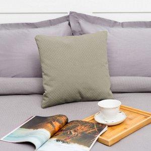 """Декоративная подушка """"Этель"""" 40х40 см, Английский стиль, цвет серый"""