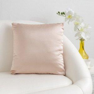 Декоративная подушка «Этель» 40?40 см Дамаск CAMEO SOLID, 100% п/э