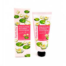 Farmstay Pink Flower Blooming Hand Cream крем для рук с экстрактом лилии 100 мл