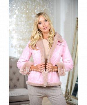 Куртка - джинсовка розовая с мехом норкиАртикул: W-5396-65-RP-N