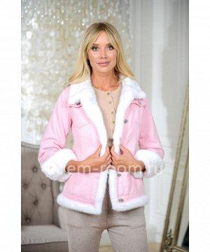 Куртка - джинсовка с мехом норкиАртикул: W-5396-62-RB-N