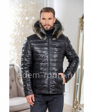 Теплая кожаная куртка для мужчинАртикул: C-51807-2-75-CH-EN