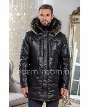 Практичная кожаная куртка для зимыАртикул: C-19715-2-80-CH-EN
