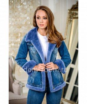 Куртка джинсовая с манжетами из норкиАртикул: W-5396-65-SN-N