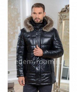 Мужская куртка из кожи с мехом Артикул: C-19720-2-80-CH-EN