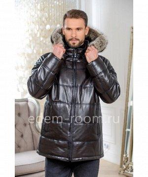 Мужская кожаная куртка для зимыАртикул: I-1855-2-80-K-EN