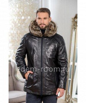 Мужская кожаная куртка для зимыАртикул: C-5370-2-80-CH-EN