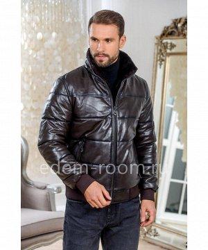 Коричневая куртка для зимы из кожиАртикул: I-83266-70-K