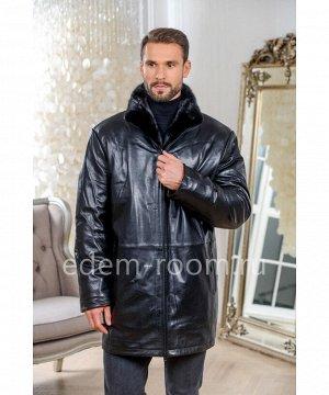 Кожаная куртка для зимы Артикул: I-98030-85-CH-N