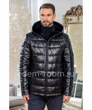 Зимняя мужская кожаная курткаАртикул: W-3289-2-75-CH