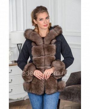 Джинсовая куртка с мехом Артикул: AL-118-2-65-SB