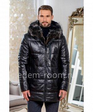 Зимняя кожаная курткаАртикул: W-1776-2-80-CH-EN