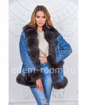 Утеплённая джинсовая куртка с мехомАртикул: DjP-116-SB