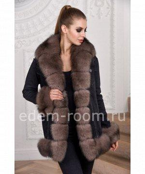 Межсезонная куртка с мехом финского песцаАртикул: DJP-116-CH