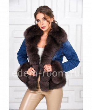 Джинсовая куртка с песцомАртикул: DJP-118-SB